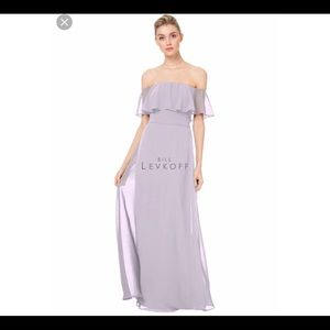 Bill Levkoff A-Line Chiffon Gown in Violet